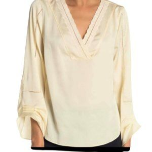 NWT Laundry by Shelli Segal Yellow  Blouse Small